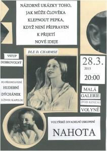 Divadelní spolek Nahota připravuje premiéru hry Daniila Charmse